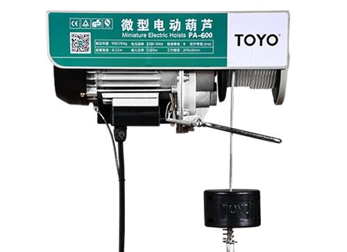 TOYO微型电动葫芦PA-600 12米小型电动提升机